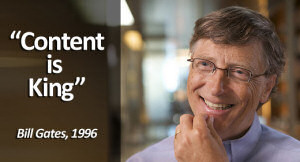 Content is King - Bill Gates 1996