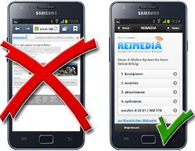Google bevorzugt mobiltaugliche Websites