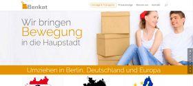Webdesigner Berlin: Benkat Umzüge Website