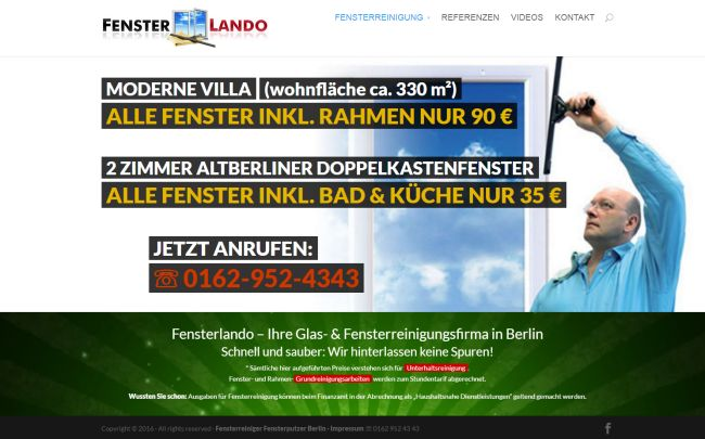 Fensterlando Berlin Webdesign
