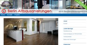MGS Bau Berlin Webdesign