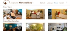 Augenarzt Niaty Berlin Webdesign