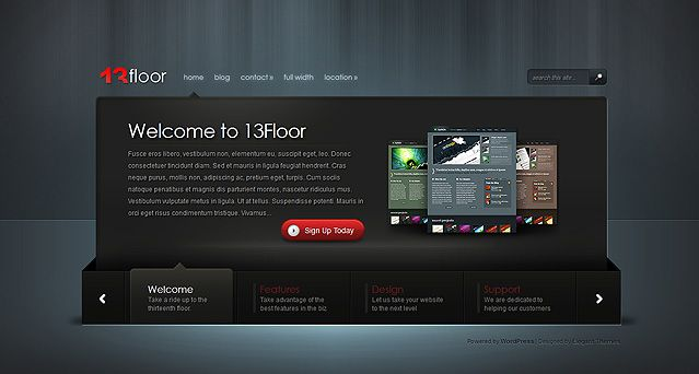 13 Floor Website Vorlagen Theme