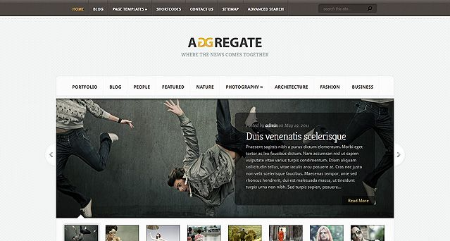Aggregate Website Vorlagen Theme