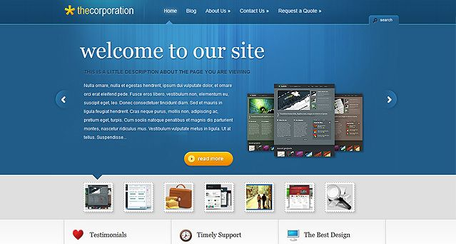 Corporation Website Vorlagen Theme