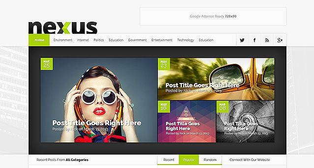 Nexus Website Vorlagen Theme