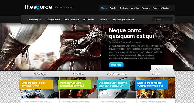Source Website Vorlagen Theme