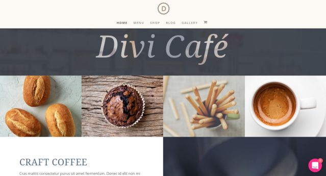 Divi Cafe Website Vorlagen Theme