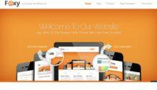 Webdesign-Vorlage Foxy Theme