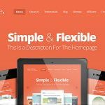 Live Demo der Webdesign Vorlage Nimble Theme