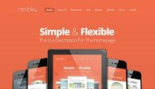 Nimble One-Page Webdesign-Theme