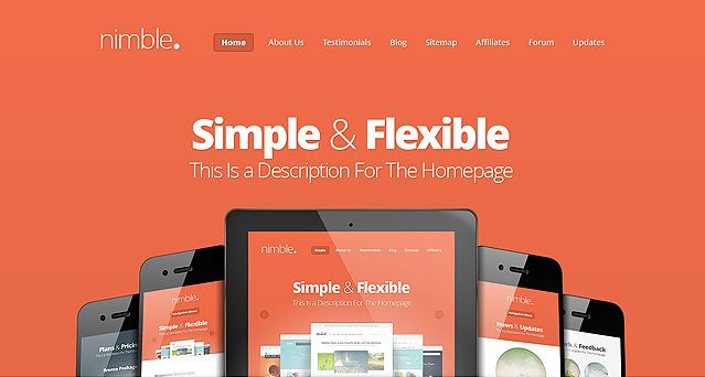 Nimble Website One-Page Vorlage