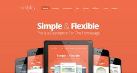 Nimble One-Page Theme