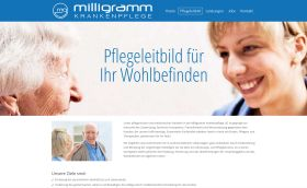 Webdesigner Berlin: Milligramm Website