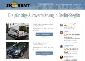 Webdesigner Berlin: SK-Rent Autovermietung Website