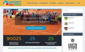 Webdesigner Berlin: Sport-Talent-Support Portal-Website