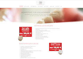 Scaladent Zahntechnik Berlin Webdesign