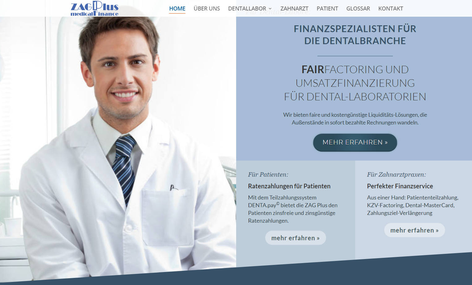 ZAG Plus medicalFinance Website Design