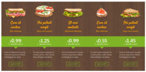 WordPress Website Preistabellen für Cafés, Bistros & Restaurants