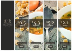 WordPress Website Preistabellen für Gastronomie, Restaurants, Bars und Cafés