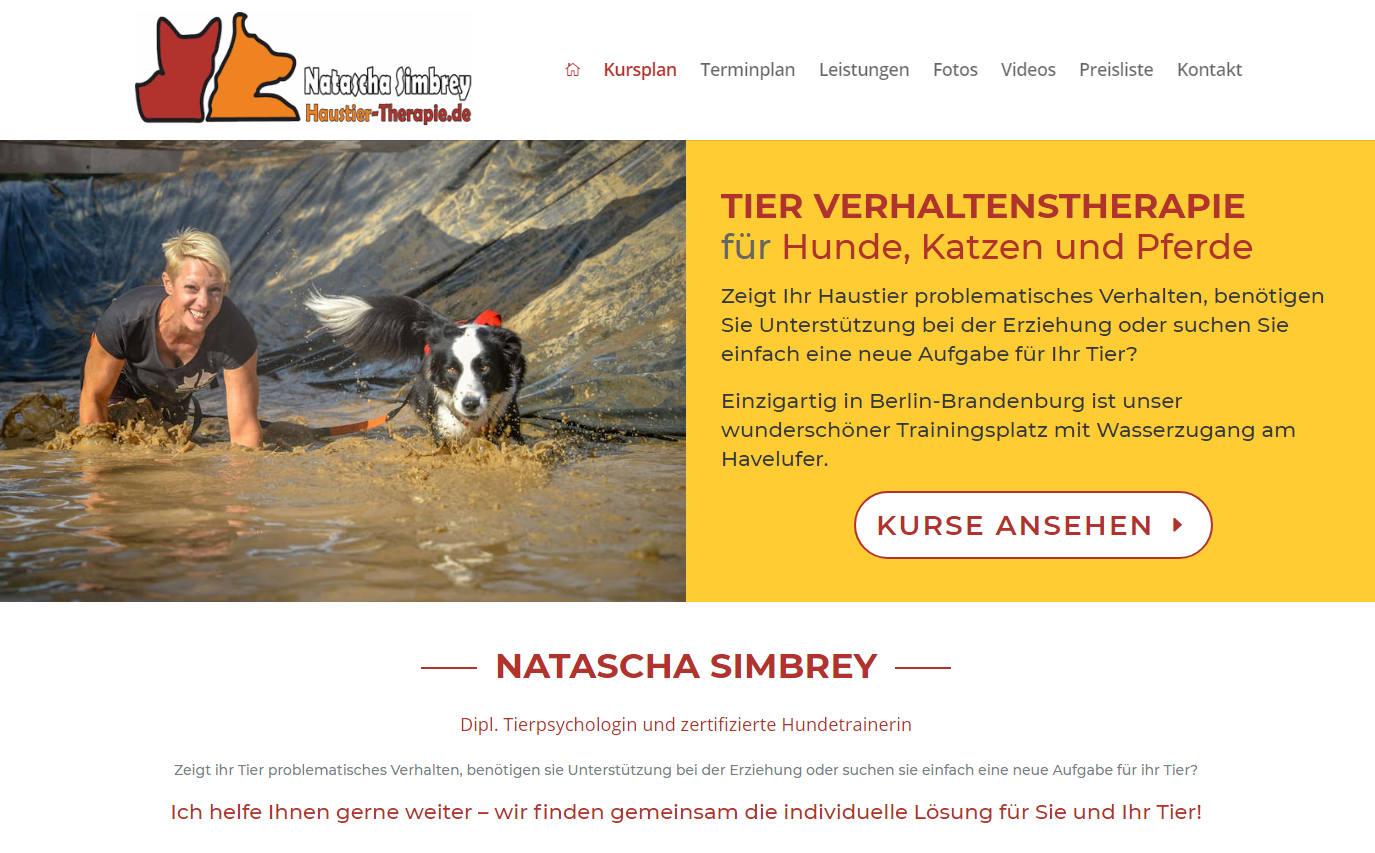 Hundetrainerin Natascha Simbrey Website erstellt von Berliner Website Agentur