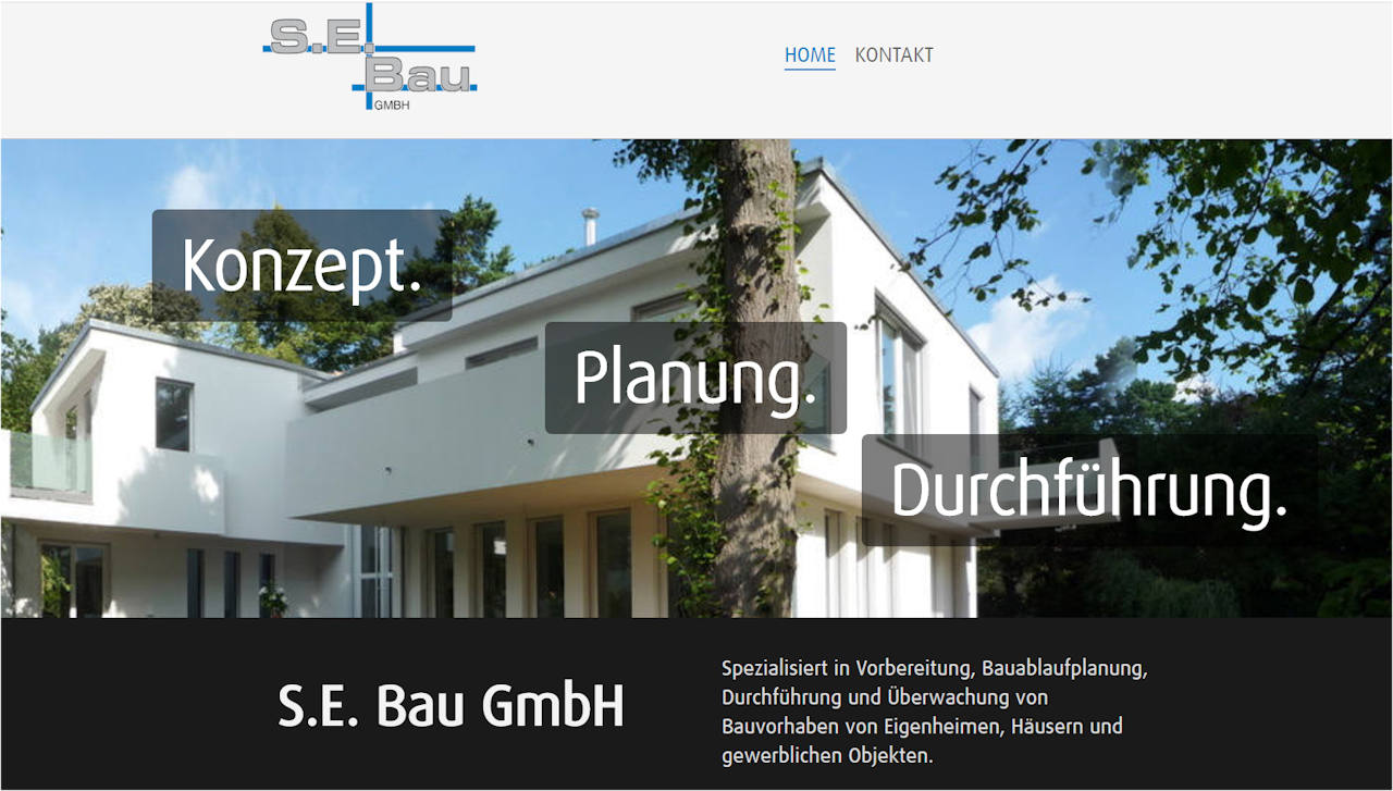 S.E. Bau GmbH in Berlin-Glienicke Website