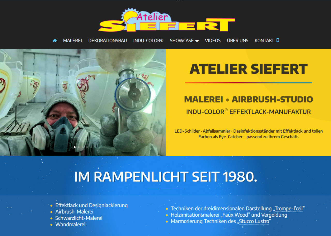 Atelier Uwe Siefert Website Design